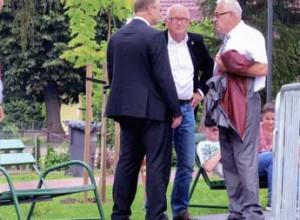 Karol Bujny, Stanisław Nazwalscy, Bürgermeister Arno Jaeschke/Altlandsberg