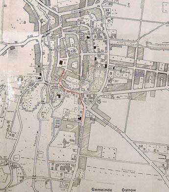Ostrower Straße in Zielenzig auf dem Stadtplan