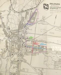 Zielenzigs Stadtteile, wo die Russen stationiert waren
