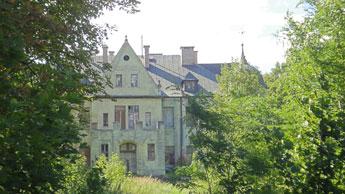 Schloss Arensdorf, Zustand 2011; Foto: H. Habermann, 8.8.2011