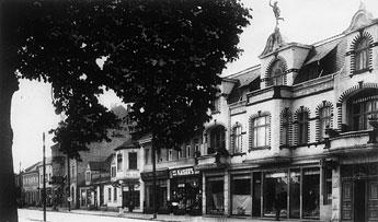 Bruchstraße mit Geschäften: Alfred Müller, Fritz Bolz, R. Schülech, Richard Löffler