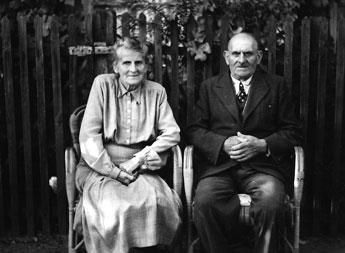 Goldene Hochzeit in Berlin-Staaken: Hedwig Praetsch  (geb. Peschke) und Max Praetsch