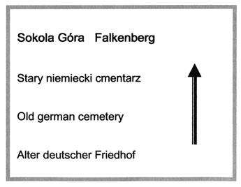 Entwurf für die Inschrift des Hinweissteines