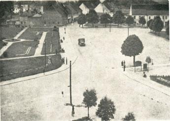 So sah 1964 der Marktplatz in Zielenzig aus