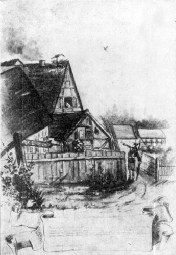»Muß i denn, muß i denn zum Städtle hinaus!« – Nach dem Aquarell von H. Zille aus seiner Dienstzeit, Sonneburg 1882