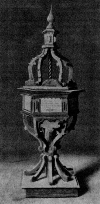 Auch in Buchholz südostwärts von Drossen hatten sich die von Winning als Kirchenpatrone und Kirchenbauer künstlerisch verewigt. Die Inschrift der oben abgebildeten buntbemalten Taufe aus Holz wies darauf hin, dass sie 1695 Cuno Friedrich von Winning, Erbherr auf Buchholz, Radach und Sternberg, und seine Eheliebste anfertigen ließen.