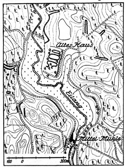 """Eine Hügelzunge an der Eilang 3 km nördlich von Sternberg trägt in Form von Steinen und Scherben, jetzt überwachsen, Reste einer mittelalterlichen Burg. Sagen bezeichnen dieses """"Alte Haus"""" als das Raubritternest der Winninge. Dokumentarische Beweise gibt es für eine solche Tätigkeit von Angehörigen der Familie nicht. Doch im 14. und 15. Jahrhundert bestritt der märkische Adel seinen Lebensunterhalt vielfach durch Raubzüge, was keineswegs als unehrenhaft galt. Schriftlich überliefert ist auch, dass die Stadt Frankfurt (Oder) noch um 1500 Anstrengungen unternahm, um den Handelsverkehr auf der Straße Richtung Schwiebus gegen Räuberbanden zu schützen."""