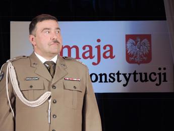 Die militärische Auszeichnung erhielt Oberstleutnant Mikołajczak, Kommandant des Truppenübungsplatzes Wandern